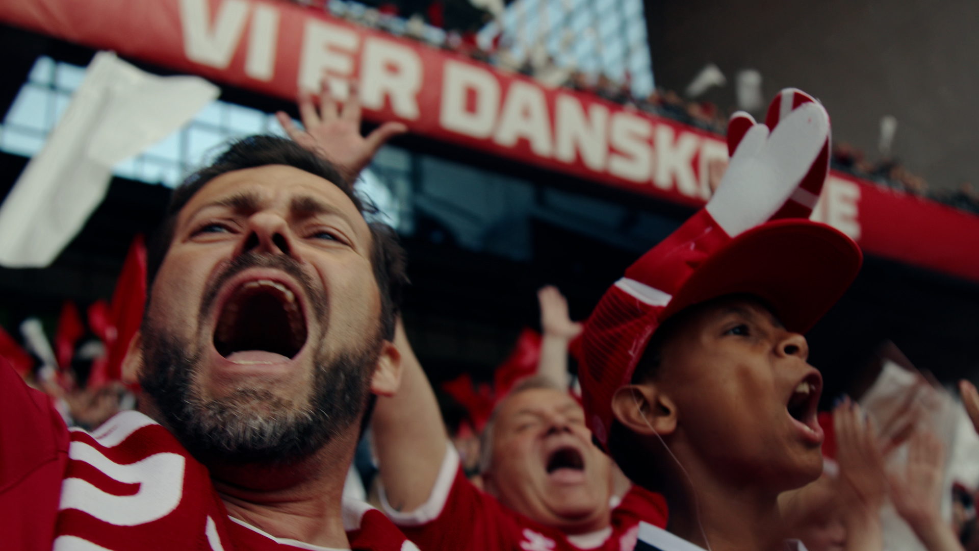 Remember the sound? The sound of a stadium filled with fans? The sound of fans singing the Danish national song -
